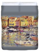 Harbor At Cassis Duvet Cover
