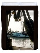 Harbor Boats Duvet Cover