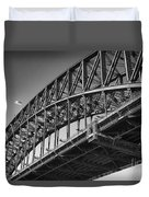 Harbor Bridge In Black And White Duvet Cover by Yew Kwang