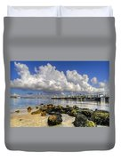 Harbor Clouds At Boynton Beach Inlet Duvet Cover