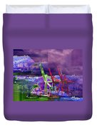 Harbor Island Workhorses Duvet Cover