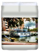 Harbor Park Ferry 5 Duvet Cover by Lanjee Chee