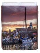 Harbor Sunset Duvet Cover