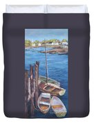 Harbor View So. Freeport Wharf Duvet Cover
