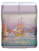 Harbour At Marseilles Duvet Cover