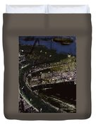 Harbour At Night Duvet Cover