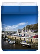 Harbour At Port Erin Duvet Cover