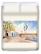 Harbour Of Cala Ratjada 01 Duvet Cover