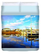 Harbour Reflections Duvet Cover