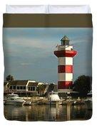 Harbour Town Light Hilton Head South Carolina Duvet Cover