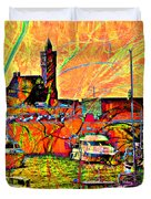 Harbour View Porthleven Cornwall Duvet Cover