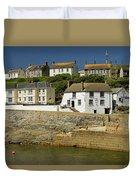 Harbourside Buildings - Porthleven Duvet Cover