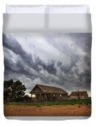 Hard Days - Abandoned Home On West Texas Plains Duvet Cover