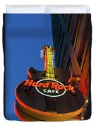 Hard Rock Guitar Detroit Duvet Cover