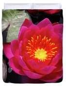 Hardy  Day Water Lily Duvet Cover