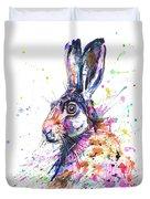 Hare In Grass Duvet Cover