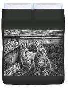 Hare Line  Duvet Cover