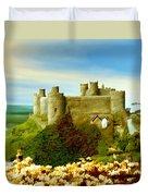 Harlech Castle Duvet Cover