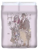 Harlequin Love Duvet Cover