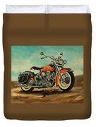 Harley Davidson 1956 Flh Duvet Cover