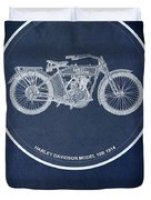 Harley Davidson Model 10b 1914, For Some There's Therapy, For The Rest Of Us There's Motorcycles Duvet Cover