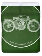 Harley Davidson Model 10b,1914 For Some There's Therapy, For The Rest Of Us There's Motorcycles Duvet Cover