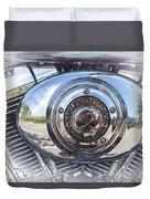 Harley Davidson Motorcycles Art Duvet Cover