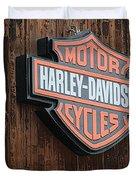 Harley Davidson Sign In West Jordan Utah Photograph Duvet Cover