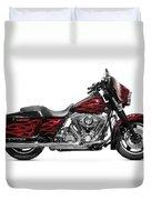 Harley-davidson Street Glide Motorcycle Duvet Cover