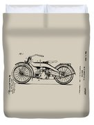 Harley Motorcycle Patent Duvet Cover