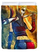 Harley Quinn Spicy  - Van Gogh Style -  - Da Duvet Cover