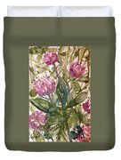 'harmony, Wisdom And Understanding From The Red Clover' Duvet Cover