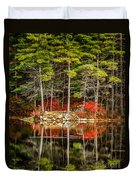 Harold Parker State Park In The Fall Duvet Cover