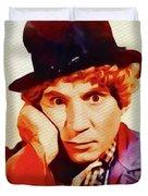 Harpo Marx, Hollywood Legend Duvet Cover