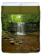 Harrison Wrights Falls In The Forest Duvet Cover