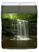 Harrison Wrights Forest Falls Duvet Cover