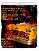 Harry Chapin Taxi Song Poster With Lyrics Duvet Cover