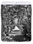 Harry Easterling Bridge Peak Sc Black And White Duvet Cover