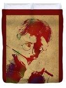 Harry Potter Watercolor Portrait Duvet Cover