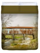Harshaville Covered Bridge  Duvet Cover
