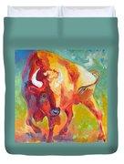 Hartsel Bison In Springtime Duvet Cover