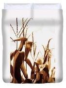 Harvest Corn Stalks - Gold Duvet Cover