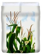 Harvest Corn Stalks Duvet Cover