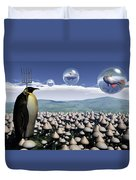 Harvest Day Sightings Duvet Cover by Richard Rizzo