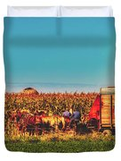 Harvest In Amish Country - Elkhart County, Indiana Duvet Cover