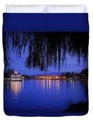 Harveston Lake At Night Duvet Cover