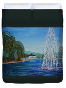 Harveston Lake Fountain Duvet Cover