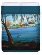 Harveston Lake Geese Duvet Cover