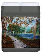 Harveston Lake Path Duvet Cover