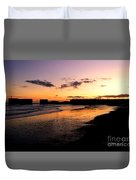 Hastings Harbour Arm At Sunset Duvet Cover